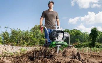Обработка земли культиватором и мотоблоком