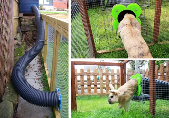 Норы для кроликов изгофрированных труб