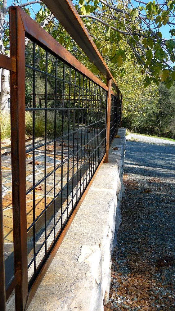 Металлический забор (решетка)