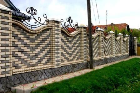 Забор из кирпича: варианты дизайна