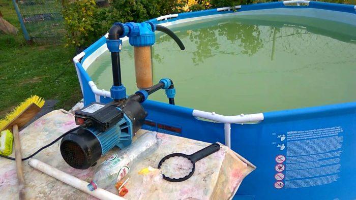 Фильтр для бассейна своими руками