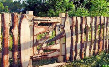 Забор и калитка из горбыля