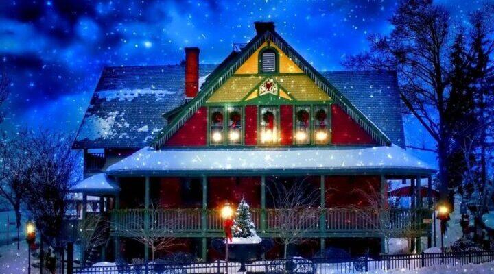Январский праздничный дом